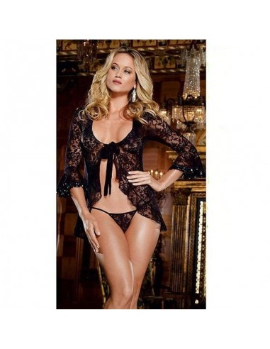 Sexy Lingerie Babydoll Nero Chemise Pizzo Intimo Donna