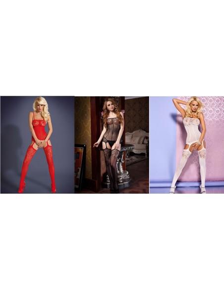 Sexy Lingerie Bodystocking Intimo Donna Tuta A Rete Catsuit Body C String Oixex