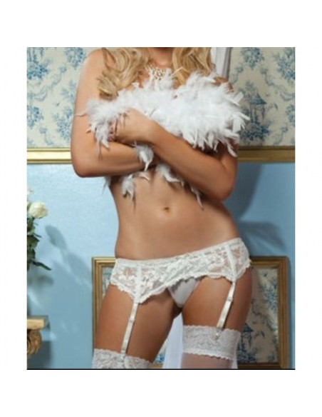 Reggicalze Pizzo Bianco Guepiere Sexy Lingerie Taglie Forti Curvy Comode Intimo