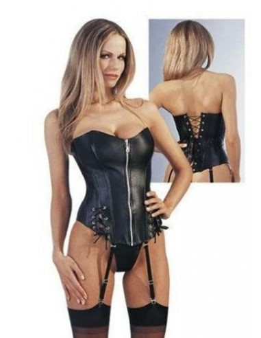 CORSETTO BOURLESQUE ECOPELLE NERO BODY