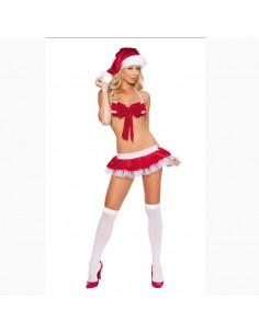 Sexy Lingerie Travestimento Babba Babbo Natale Con Gonnelino E Perizoma Costume