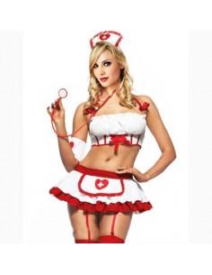 Sexy Lingerie Travestimento Sexy Infermiera Minigonna Svasata Costume