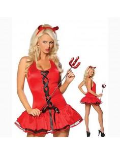 Vestito da diavola sexy Rosso