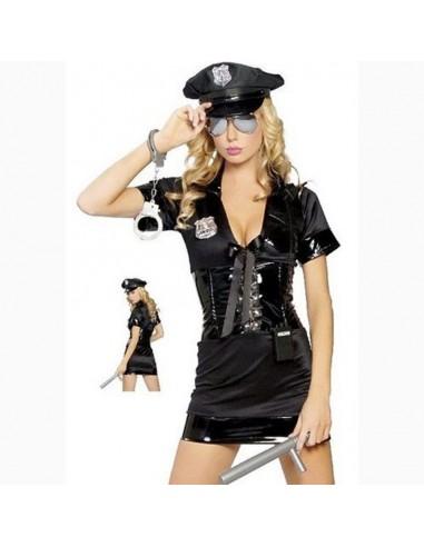 Costume Poliziotta Sexy Inserti In Pelle