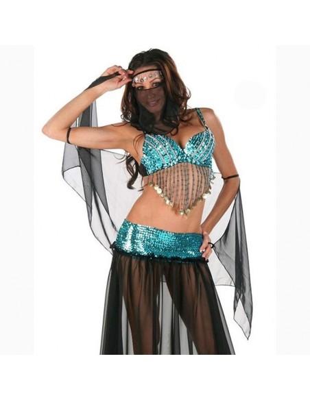 Sexy Lingerie Travestimento Odalisca Danzatrice Del Ventre Velo In Tulle