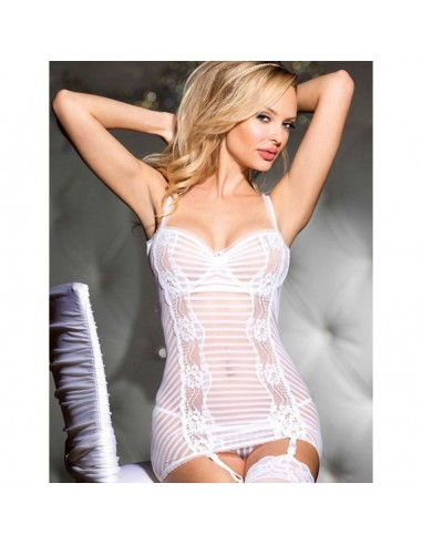 Babydoll Lingerie Chemise Bianco Sposa Pizzo Sottoveste Sexy Intimo Donna