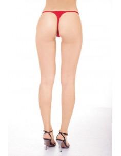 Sexy Slip Perizoma Rosso Lingerie Intimo Donna Cotone Con Hot Apertura Anteriore