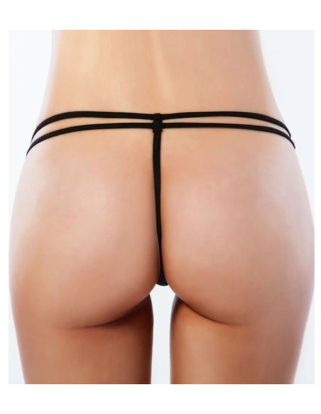 Sexy Perizoma Nero Pizzo Slip Mutandina Lingerie Intimo Donna Tanga No Culotte