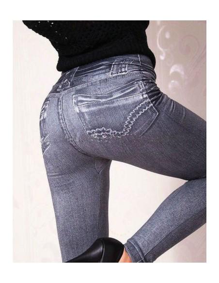 Leggings Jeans Nero Sexy