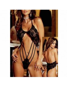 Sexy Lingerie Body Teddy Nero Pizzo Stringato Intimo Donna