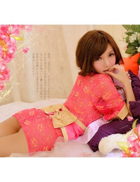 Kimono Lingerie Geisha Fucsia