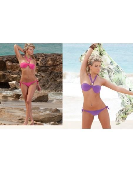 Costume Bikini Colore Fucsia e Viola