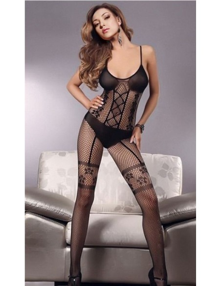 Sexy Lingerie Intimo Donna Bodystocking Nero Tuta A Rete Hot Catsuit Body Oixex