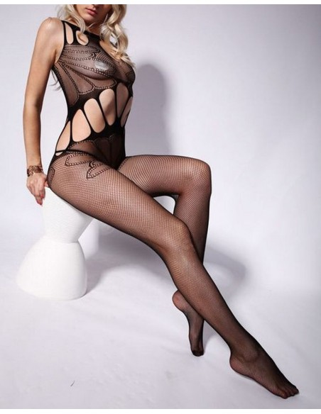 Sexy Lingerie Intimo Donna Bodystocking Nero Collant Body Babydoll No Calze