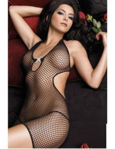 Sexy Lingerie Intimo Donna Bodystocking Tuta A Rete Catsuit Body No C String