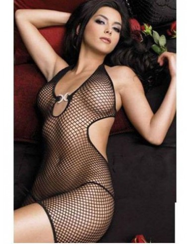 Body Stocking Nero Intimo Trasparente