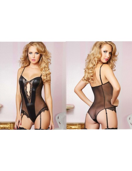 Body Tulle Nero In Pizzo Intimo Seducente