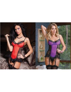 Guepiere Sexy Completo Intimo In Pizzo