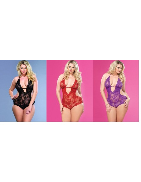 Body Rosso Intimo Donne Curvy