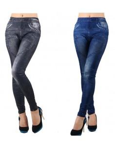 Leggings Sexy nero e blu
