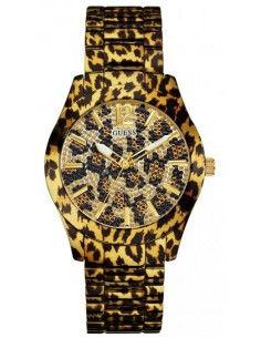Orologio Donna GUESS FIERCE W0001L2 Gold MACULATO Bracciale Acciaio Swarovski