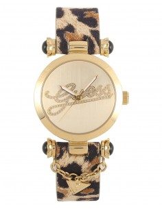 Guess Donna Orologio Watch Woman W10619L1 Swag Leopardato Maculato Oro