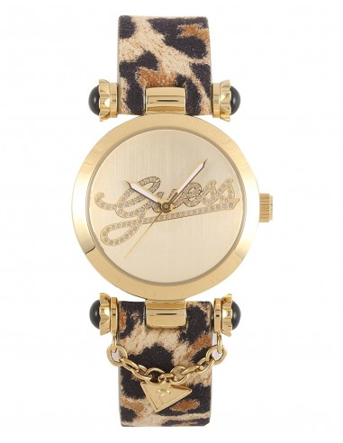 Guess Donna Orologio Watch Woman Uhr W10619L1 Swag Leopardato Maculato Oro