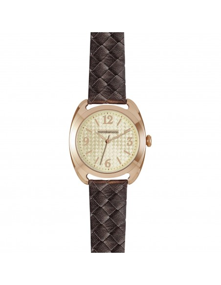 ROCCOBAROCCO WATCH Mod. MONTENAPOLEONE Quartz Lady PVD Rose Gold Leather