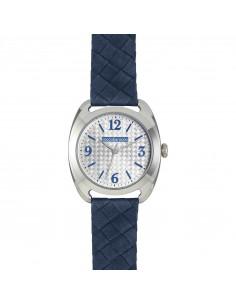 Orologio ROCCOBAROCCO Tempo Donna Montenapoleone RB0099 Blu Pelle Silver