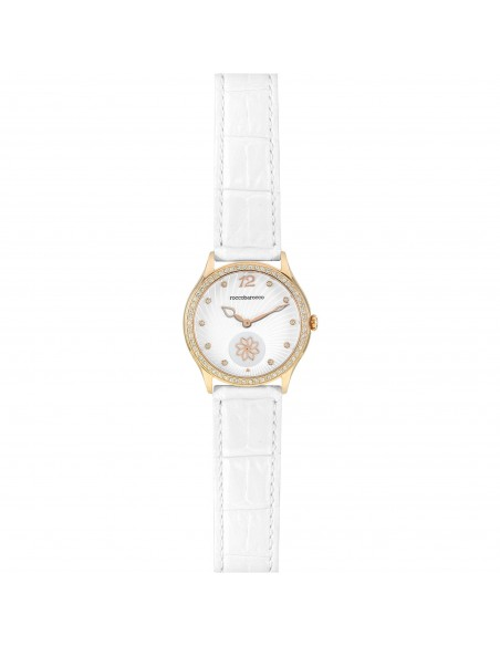 Orologio Donna RoccoBarocco Jackie trendy Cint. Pelle Bianco RB0264