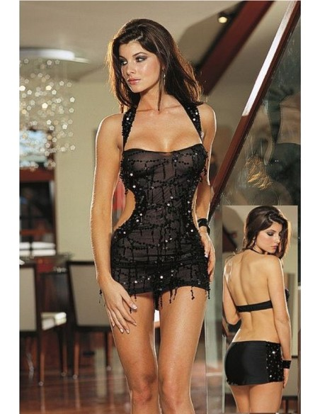Babydoll Con Paillettes Sexy Lingerie Donna