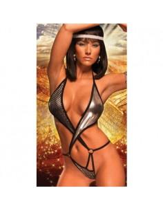 Body Lingerie Sexy Teddy Nero e Argento Hot Completino Intimo Lap Dance