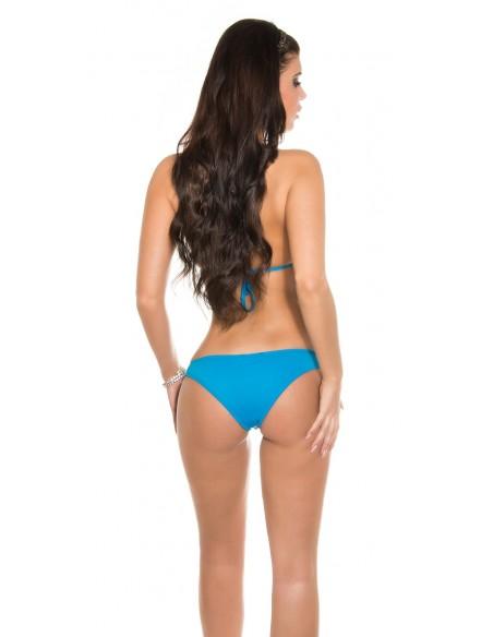 Sexy Bikini Costume Da Bagno Con Paillettes Azzurro e Rosa Mare Hot Swimsuit