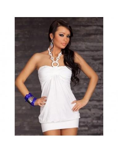 Sexy Miniabito Bianco Corto Donna Mini abito Tubino Vestito Party Festa Taglia M