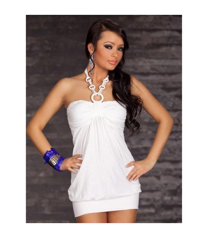 big sale 4c91d e0d9c Sexy Miniabito Bianco Corto Donna Mini abito Tubino Vestito Party Festa  Taglia M