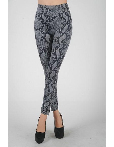 Sexy Leggings Effetto Jeans O Pitonato Fuseaux Pantalone Pantacollant