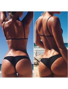 Costume Da Bagno Solo Slip A Brasiliana Sexy Bikini Donna Nero