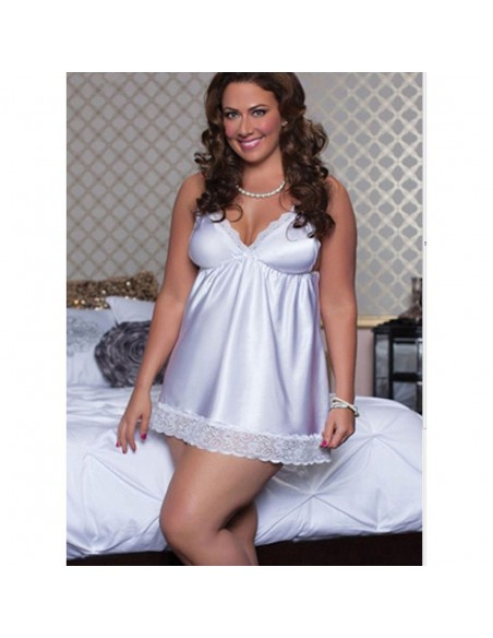 Intimo Donna Taglie Forti Babydoll Pizzo Sexy