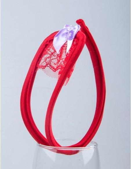 Sexy C String Pizzo Rosso Cerchietto Invisibile Slip Perizoma Tanga
