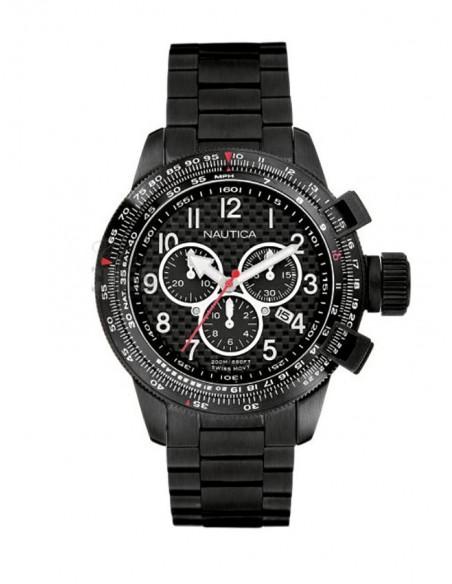 Orologio Nautica A42550 Al Quarzo Cronografo Cassa Acciaio Nero