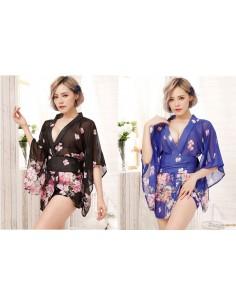 Kimono Corto A Fiori
