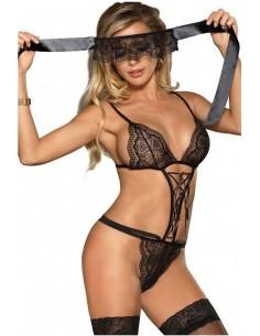 Body Donna In Pizzo Nero Oixex