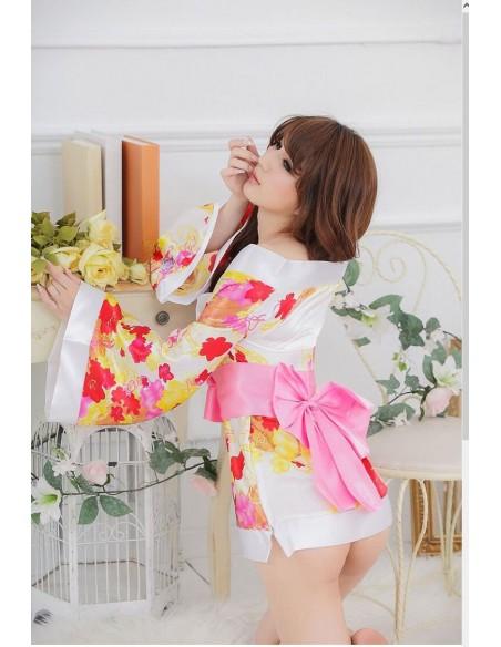 Vestaglia Bianca Sexy Modello Kimono