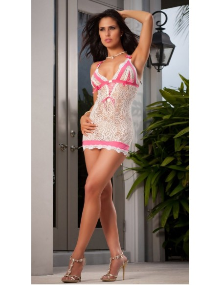 Sottoveste Bianca Baby Doll Pizzo